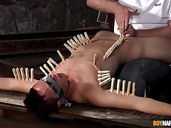Clamped twink endures plenty of dick in his fine ass