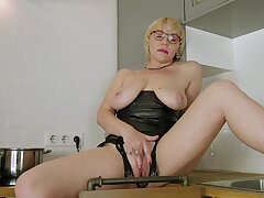 Busty literal mature woman there soft kitchen pussy solo
