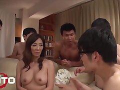 Gangbang To Hot Gorgeous Girl And Five Guys