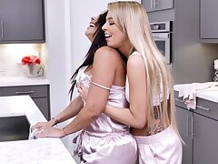 Two housewives Diamond Kitty increased by Zoey Monroe are toying each every second