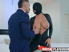 Chuck-full babe in leather body suit Romi Rain is fucked by Charles Dera